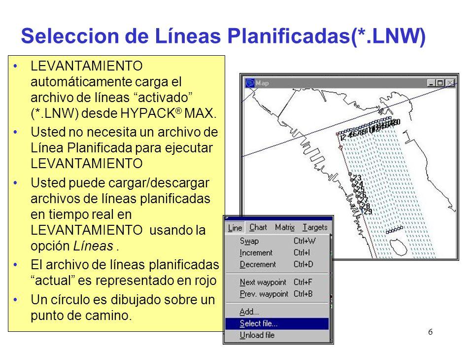 Seleccion de Líneas Planificadas(*.LNW)