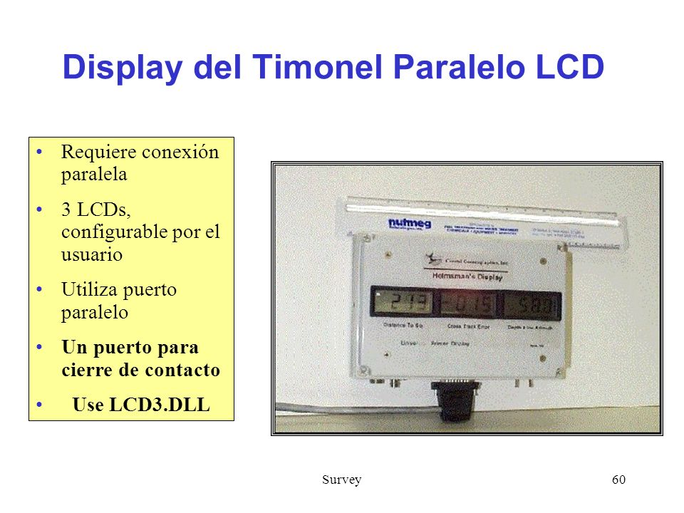 Display del Timonel Paralelo LCD
