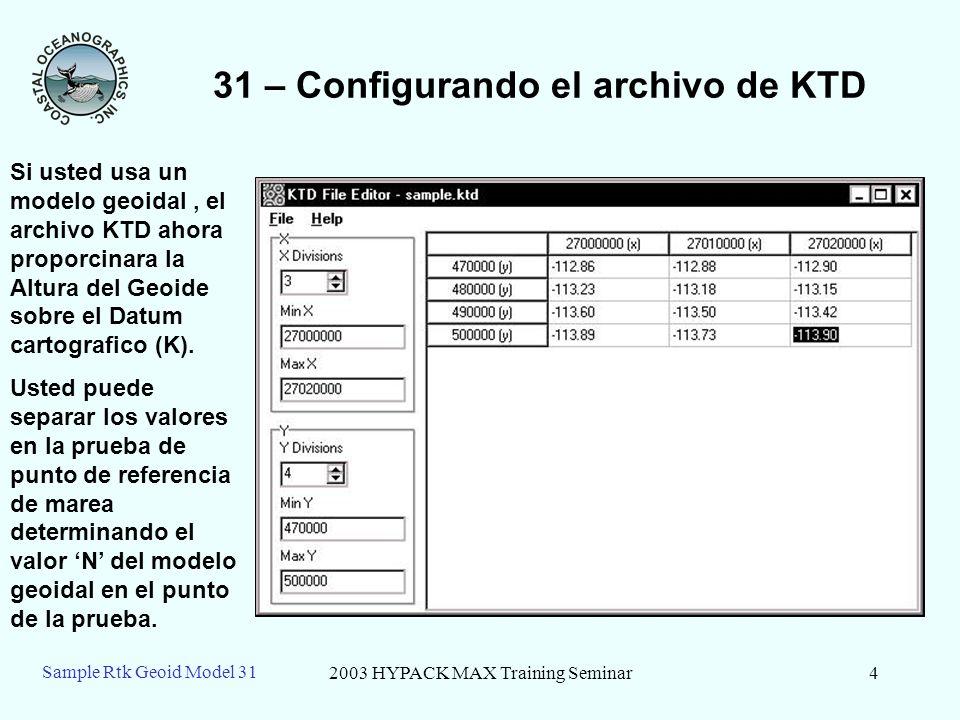 31 – Configurando el archivo de KTD