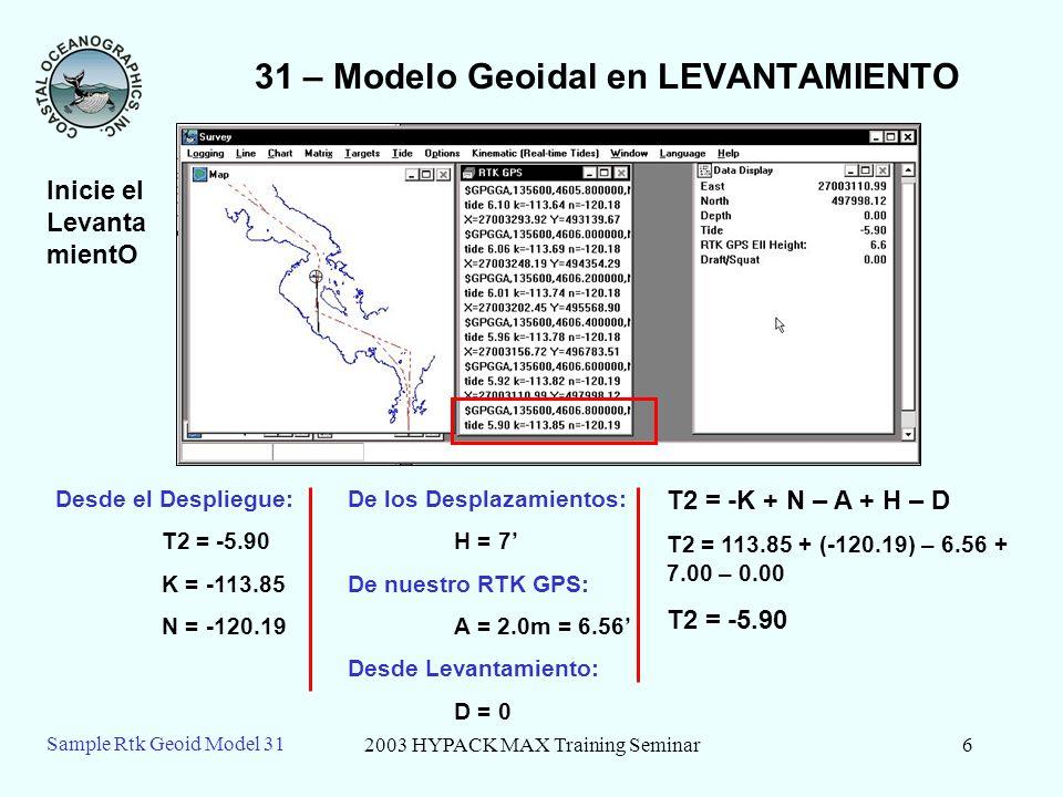 31 – Modelo Geoidal en LEVANTAMIENTO