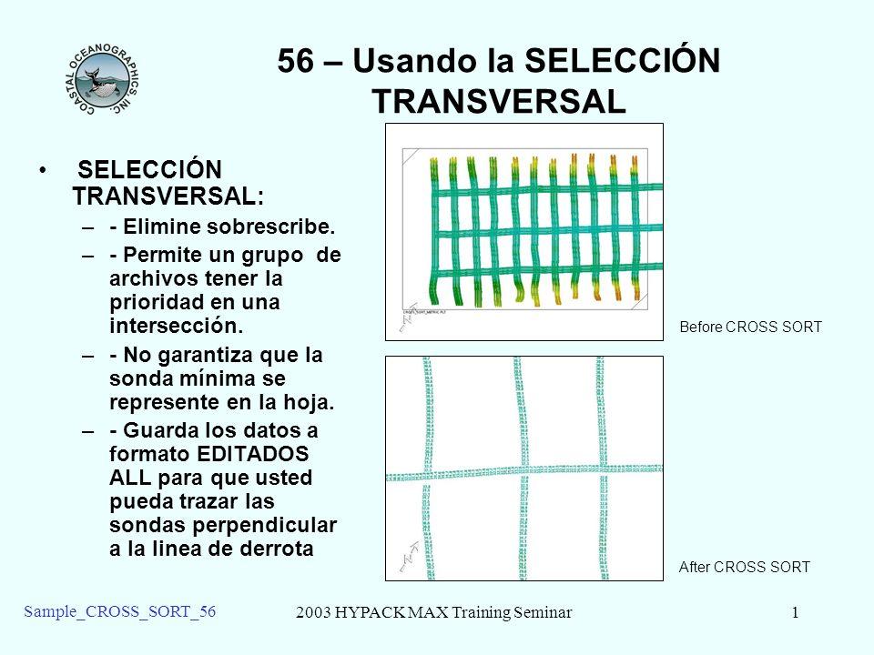 56 – Usando la SELECCIÓN TRANSVERSAL