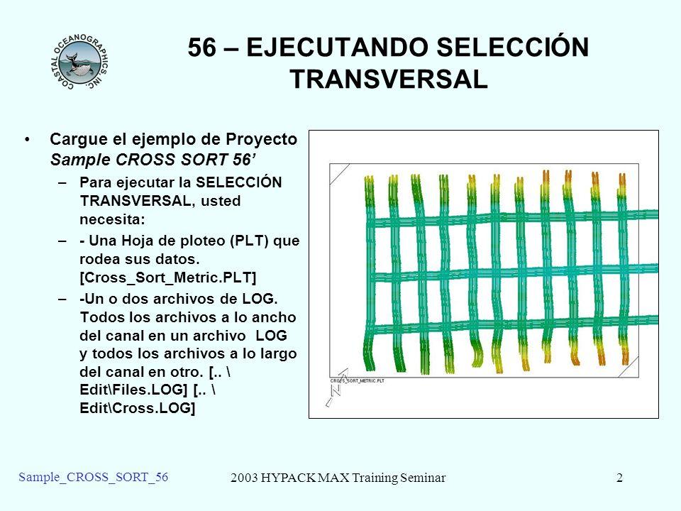 56 – EJECUTANDO SELECCIÓN TRANSVERSAL