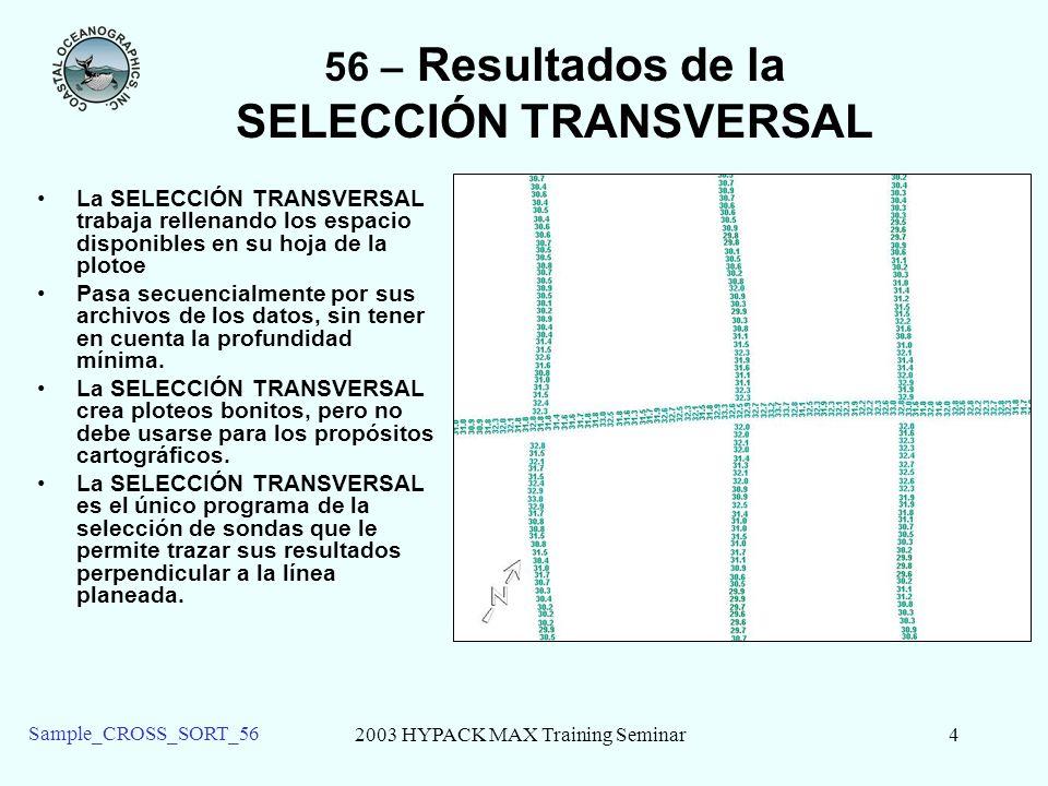 56 – Resultados de la SELECCIÓN TRANSVERSAL