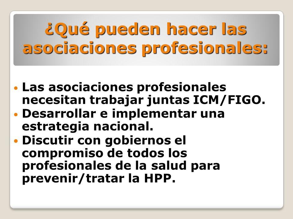 ¿Qué pueden hacer las asociaciones profesionales: