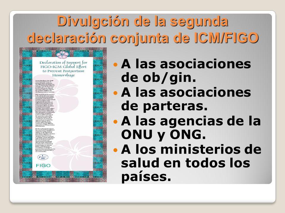 Divulgción de la segunda declaración conjunta de ICM/FIGO