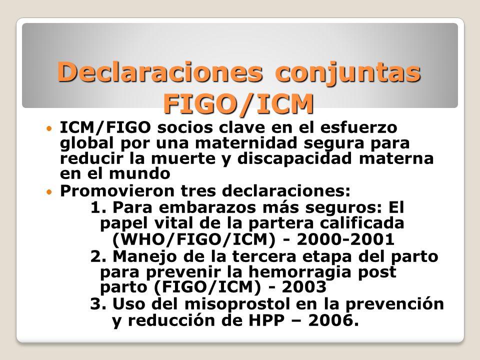 Declaraciones conjuntas FIGO/ICM