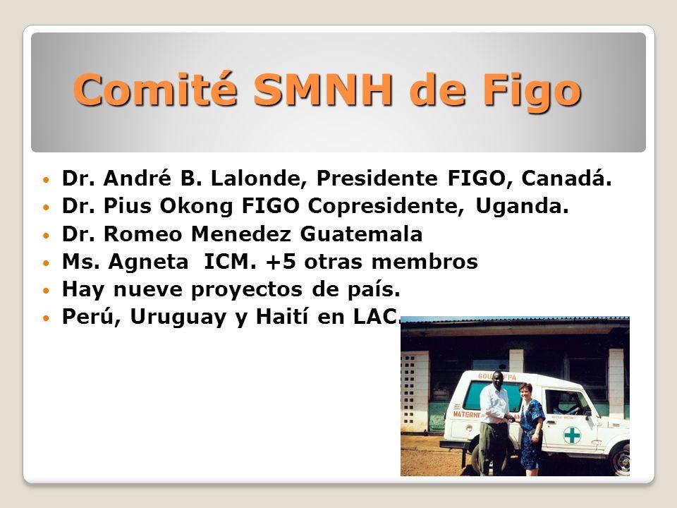 Comité SMNH de Figo Dr. André B. Lalonde, Presidente FIGO, Canadá.