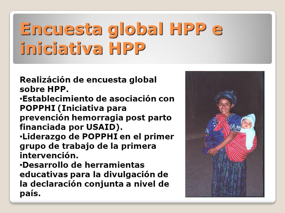 Encuesta global HPP e iniciativa HPP