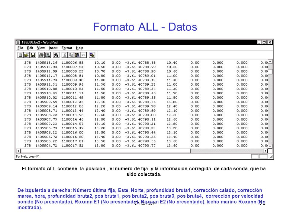 Formato ALL - Datos Overview
