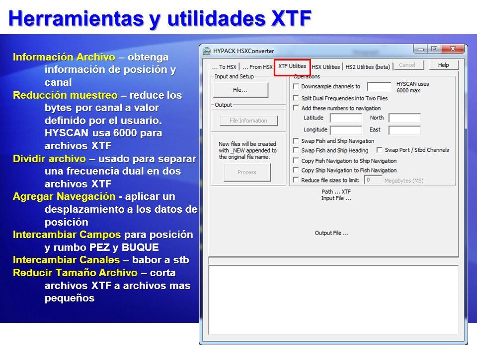 Herramientas y utilidades XTF