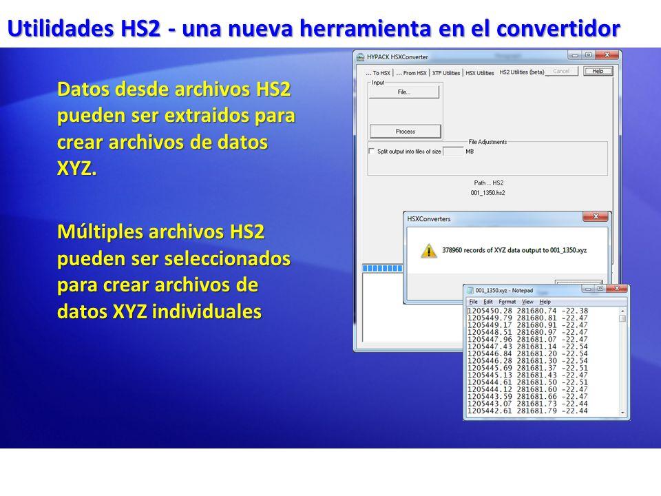 Utilidades HS2 - una nueva herramienta en el convertidor