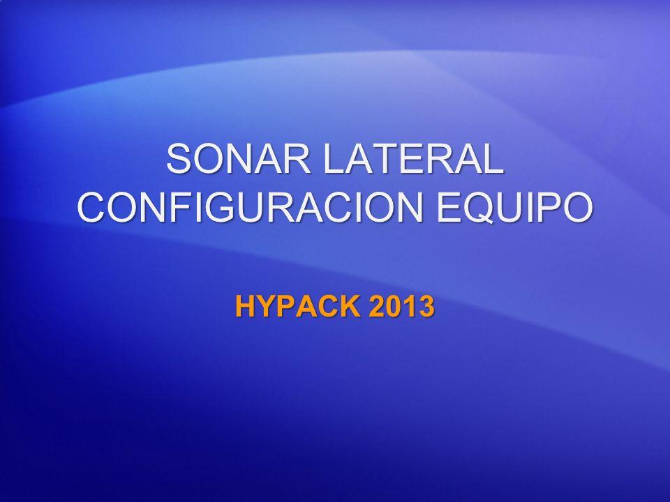 SONAR LATERAL CONFIGURACION EQUIPO