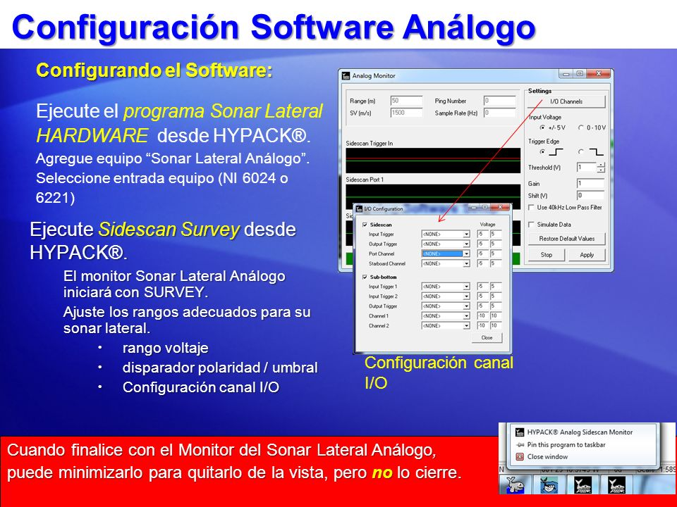 Configuración Software Análogo