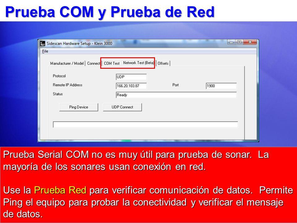 Prueba COM y Prueba de Red