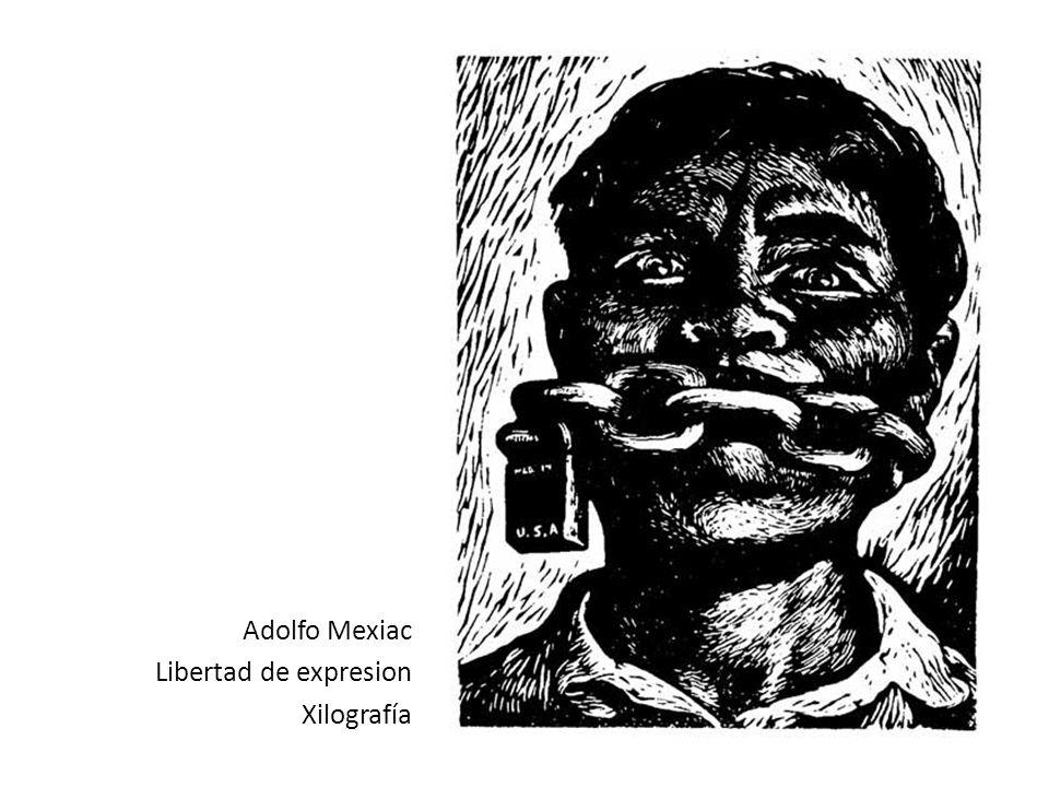 Adolfo Mexiac Libertad de expresion Xilografía