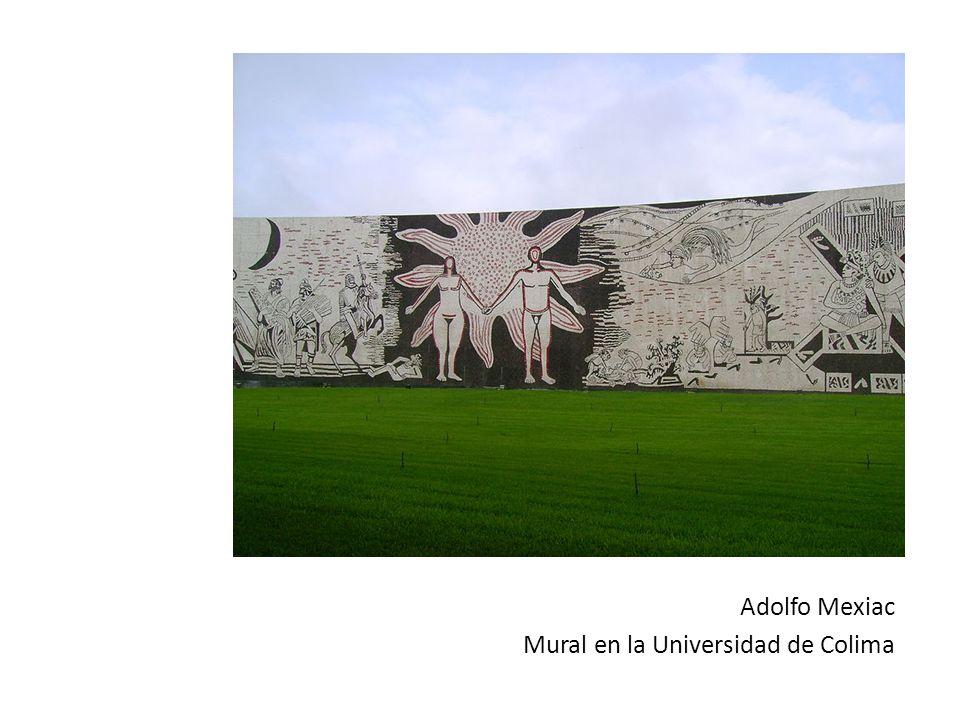 Adolfo Mexiac Mural en la Universidad de Colima