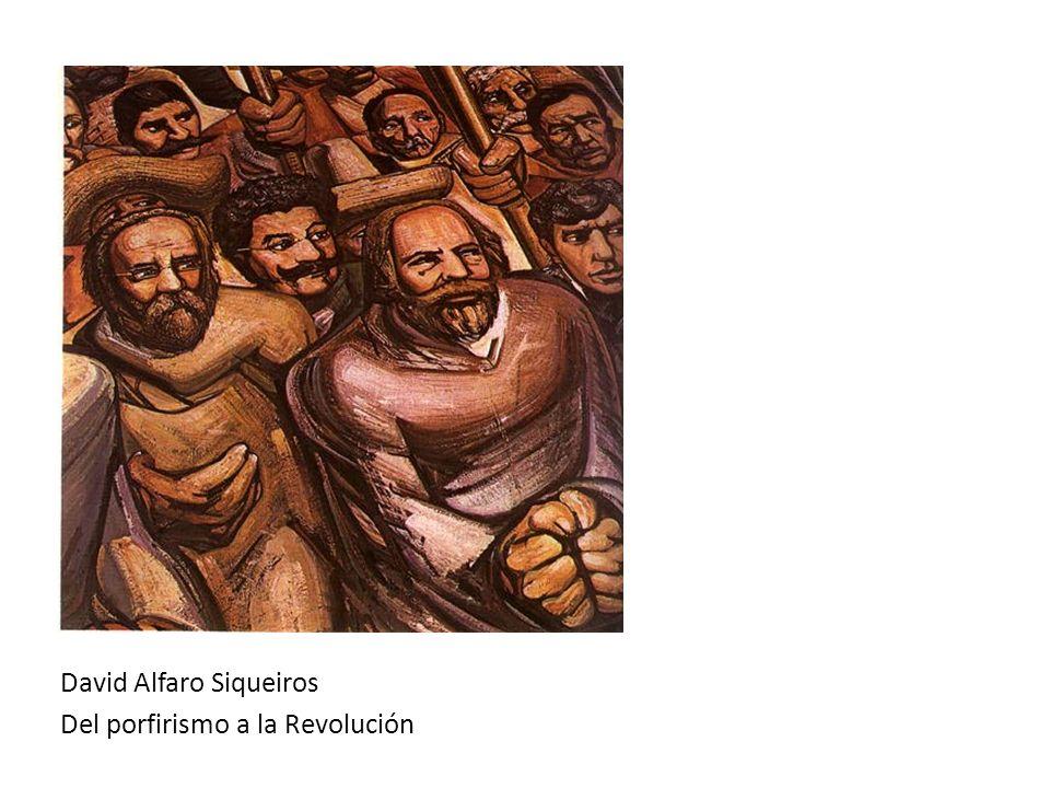 David Alfaro Siqueiros Del porfirismo a la Revolución