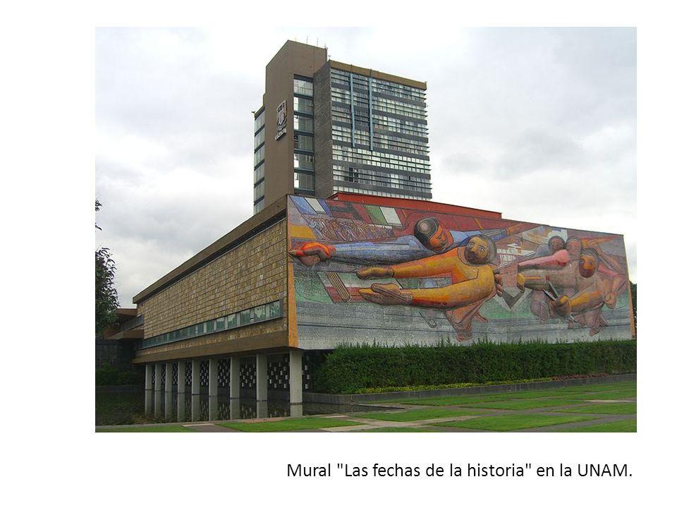Mural Las fechas de la historia en la UNAM.