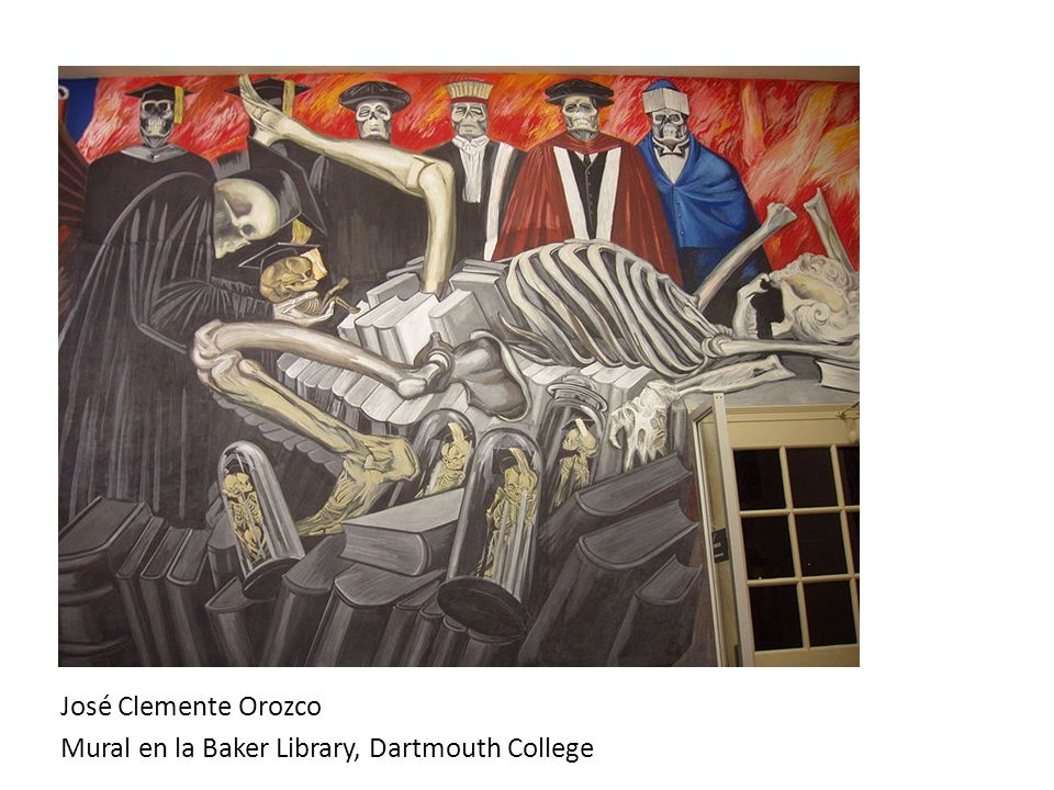 José Clemente Orozco Mural en la Baker Library, Dartmouth College