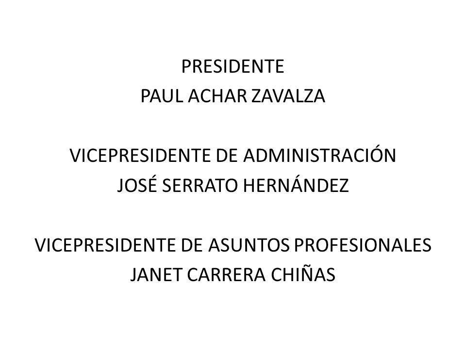 VICEPRESIDENTE DE ADMINISTRACIÓN JOSÉ SERRATO HERNÁNDEZ