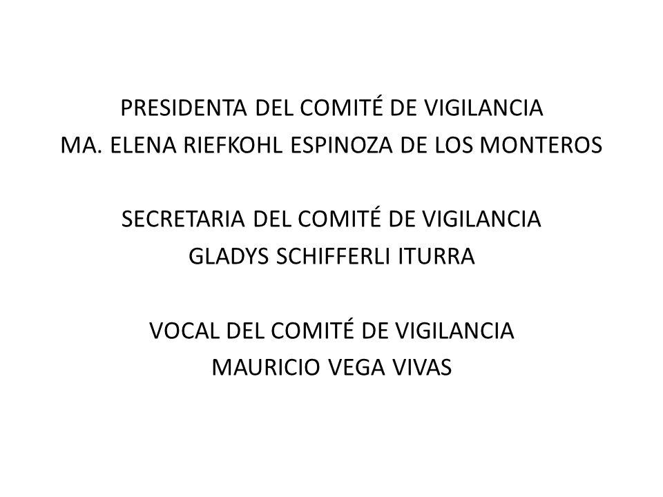PRESIDENTA DEL COMITÉ DE VIGILANCIA MA