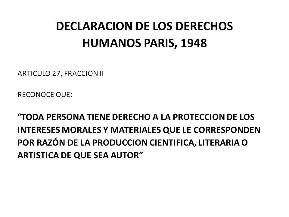 DECLARACION DE LOS DERECHOS