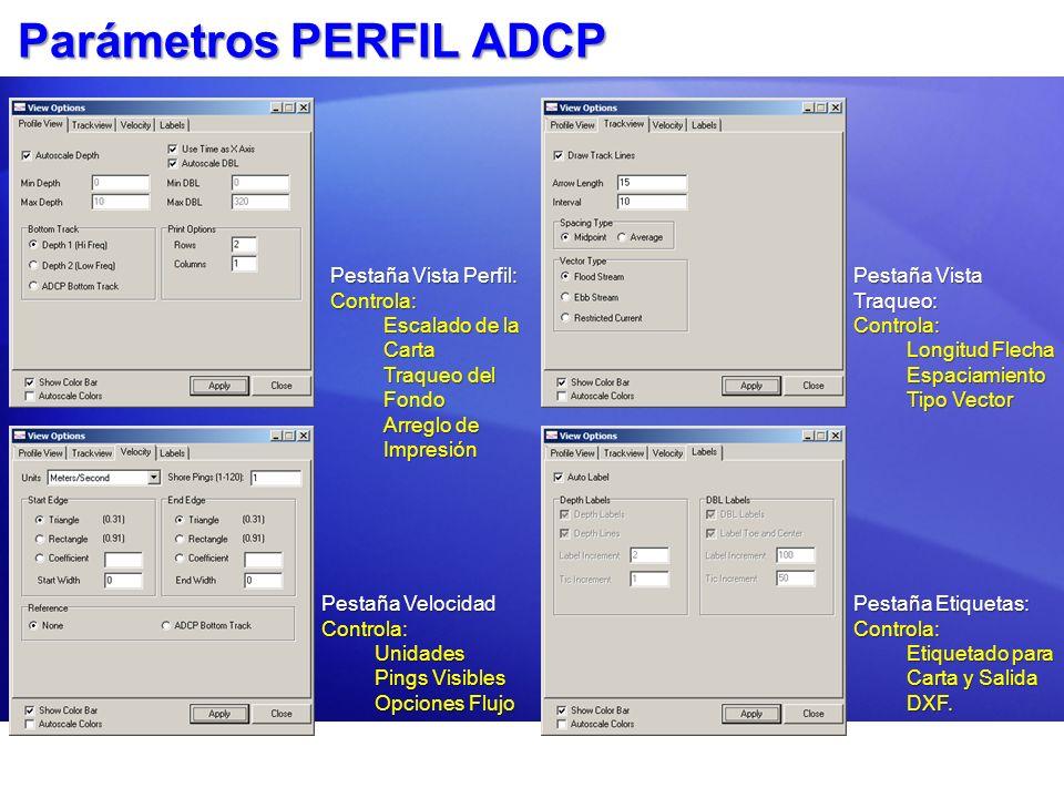 Parámetros PERFIL ADCP