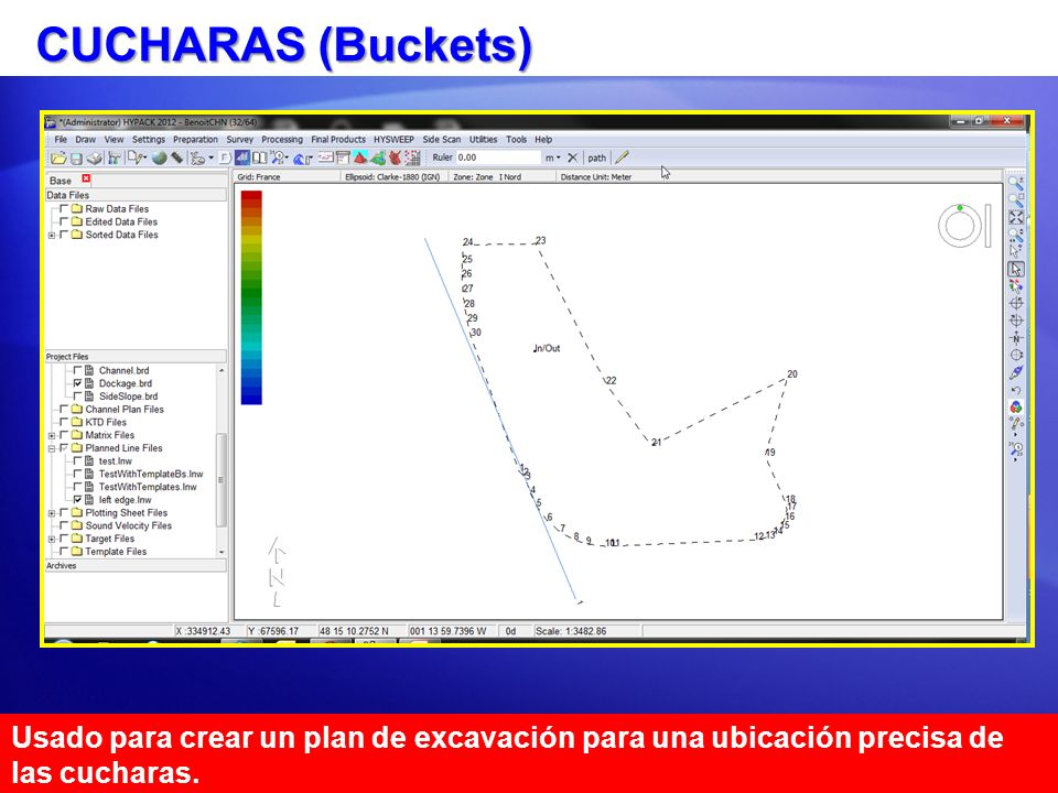 CUCHARAS (Buckets) Usado para crear un plan de excavación para una ubicación precisa de las cucharas.