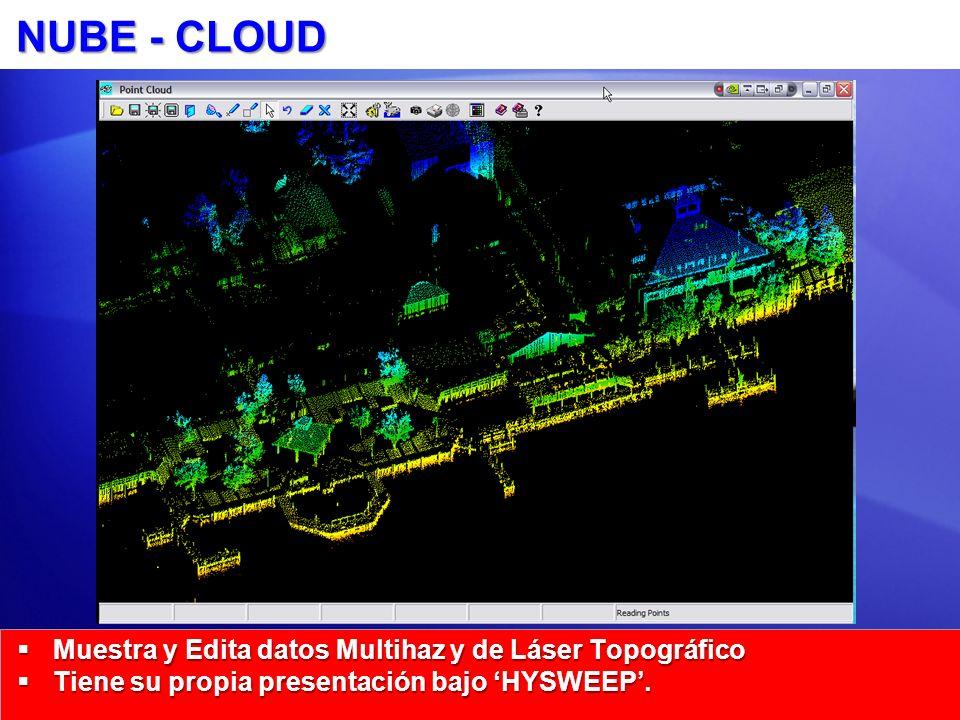 NUBE - CLOUD Muestra y Edita datos Multihaz y de Láser Topográfico