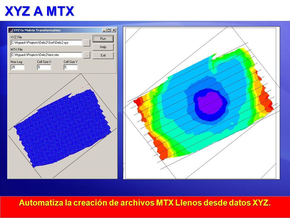 Automatiza la creación de archivos MTX Llenos desde datos XYZ.