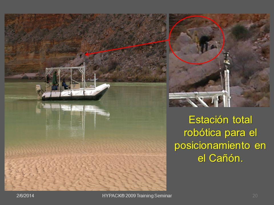 Estación total robótica para el posicionamiento en el Cañón.