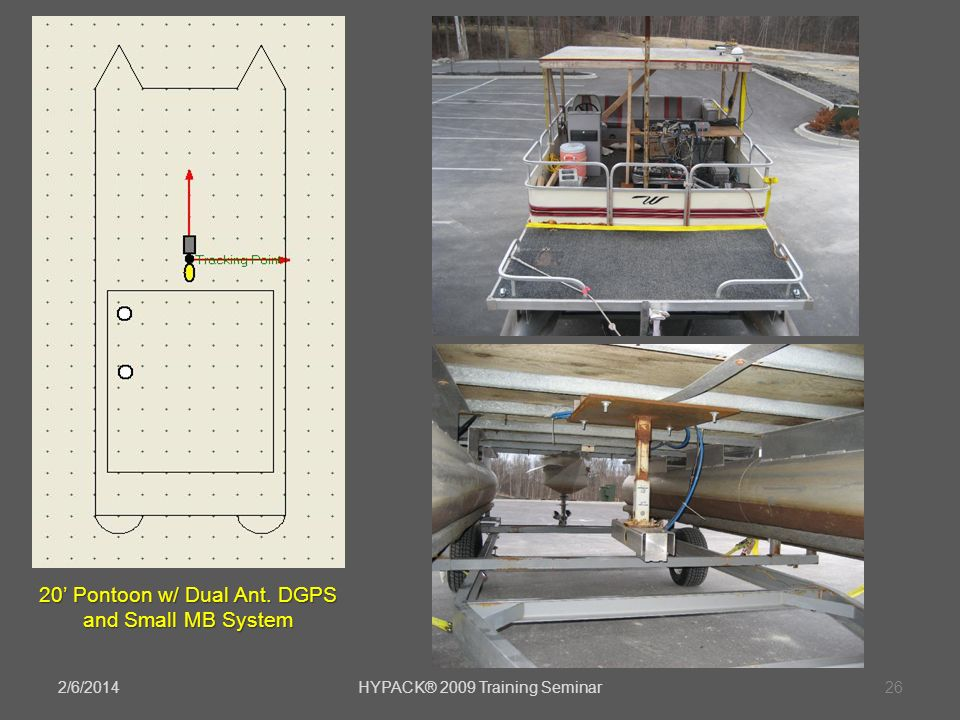 20' Pontoon w/ Dual Ant. DGPS and Small MB System