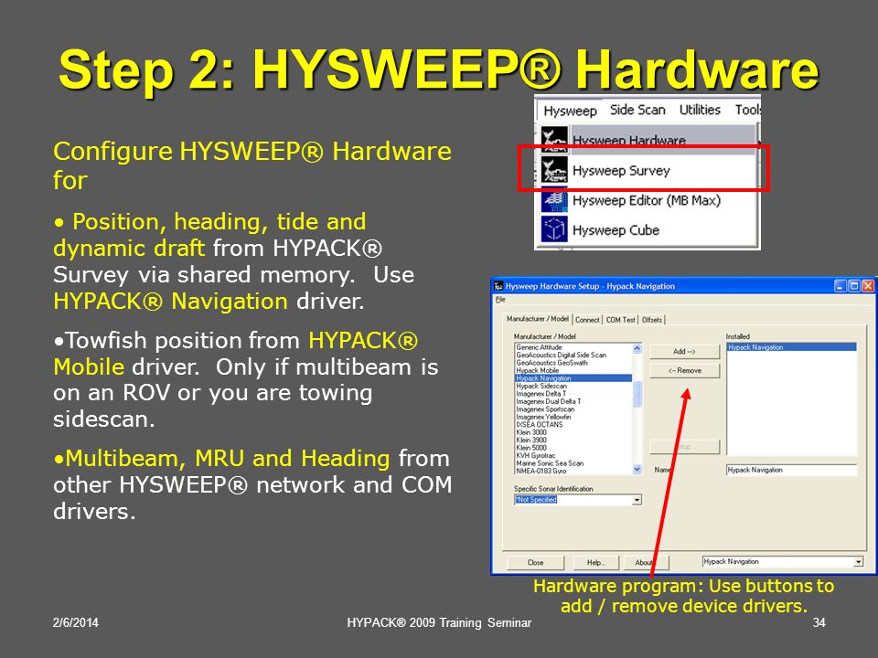 Step 2: HYSWEEP® Hardware