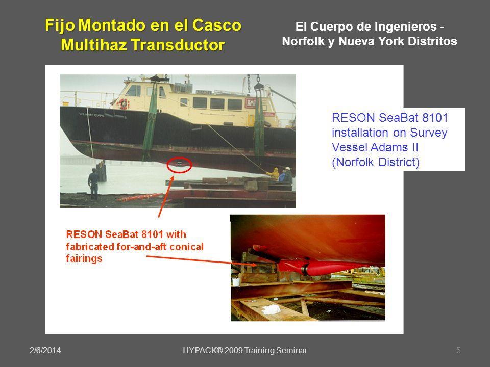 Fijo Montado en el Casco Multihaz Transductor