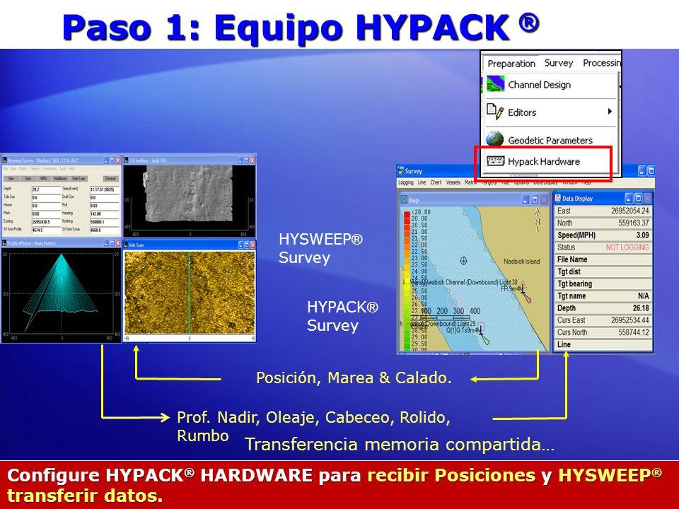 Paso 1: Equipo HYPACK ® Transferencia memoria compartida…