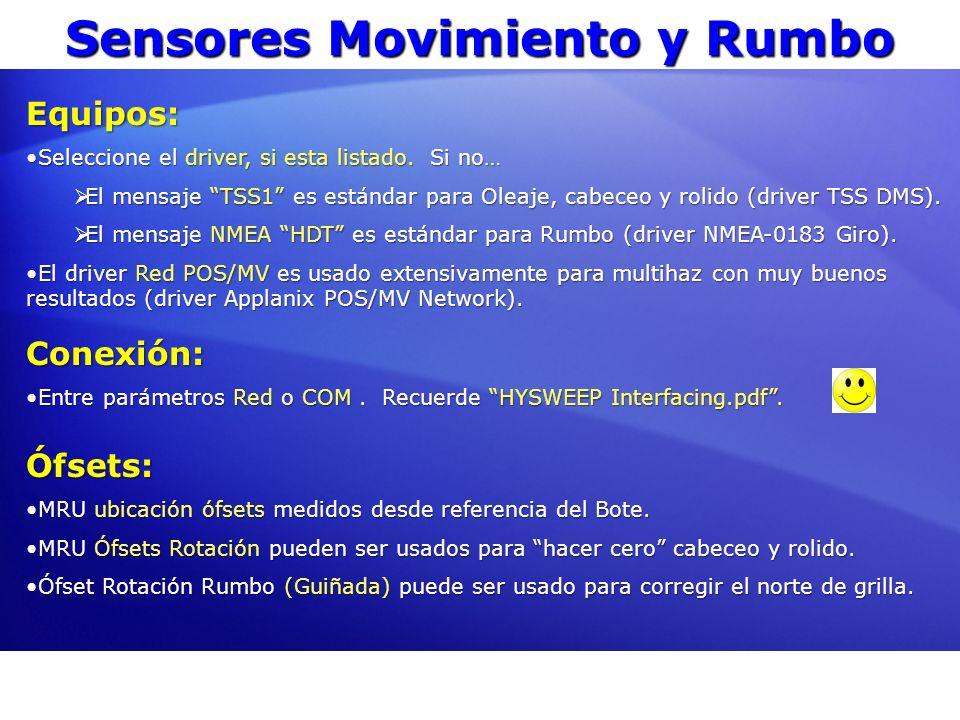 Sensores Movimiento y Rumbo