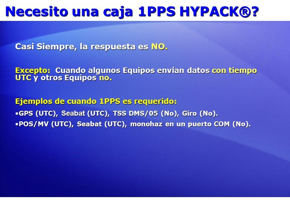 Necesito una caja 1PPS HYPACK®
