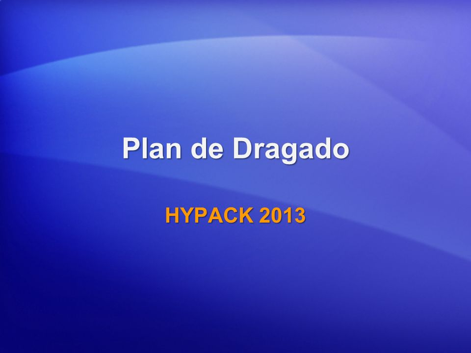 Plan de Dragado HYPACK 2013