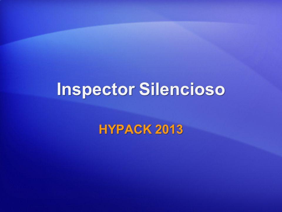 Inspector Silencioso HYPACK 2013