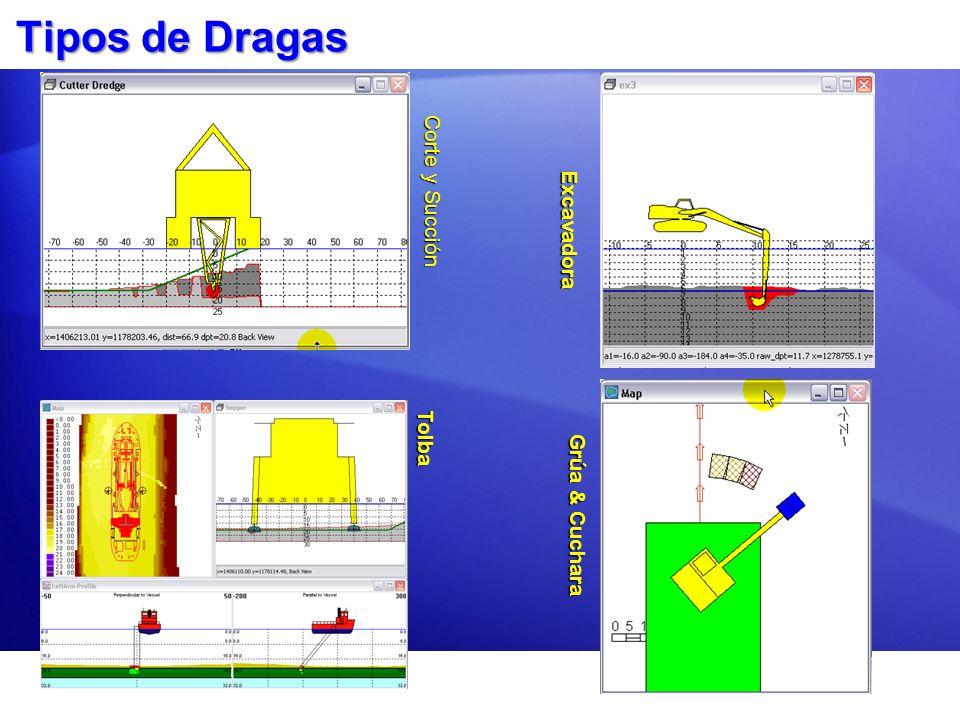 Tipos de Dragas Corte y Succión Excavadora Tolba Grúa & Cuchara