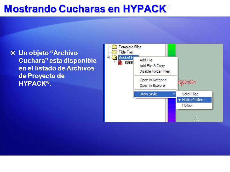 Mostrando Cucharas en HYPACK®