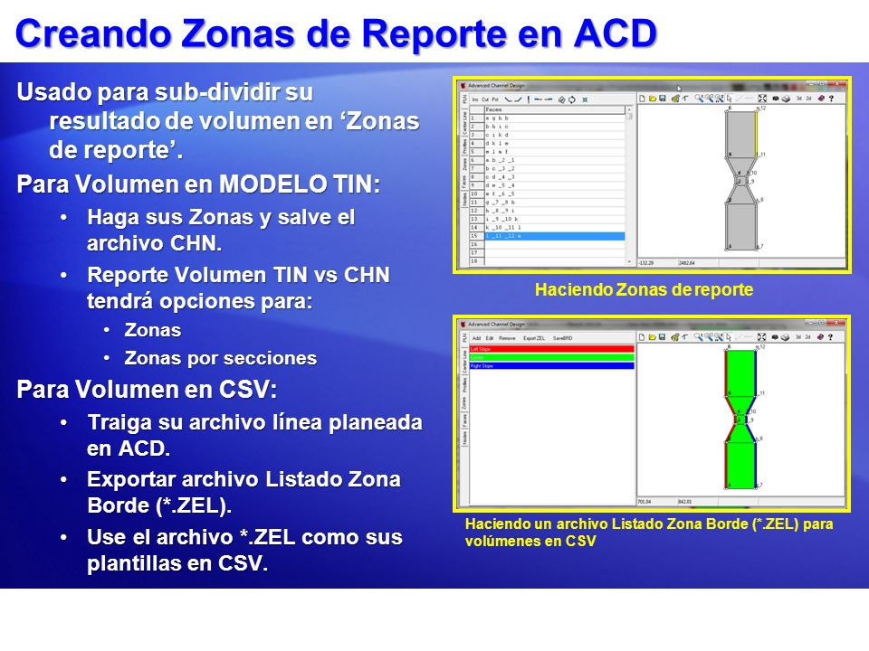 Creando Zonas de Reporte en ACD