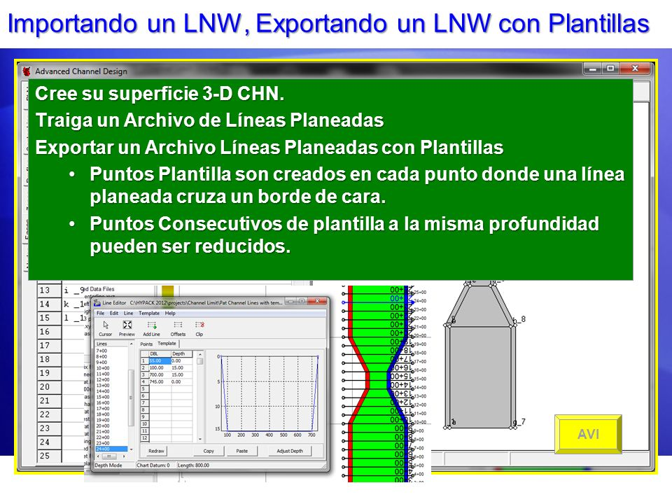 Importando un LNW, Exportando un LNW con Plantillas