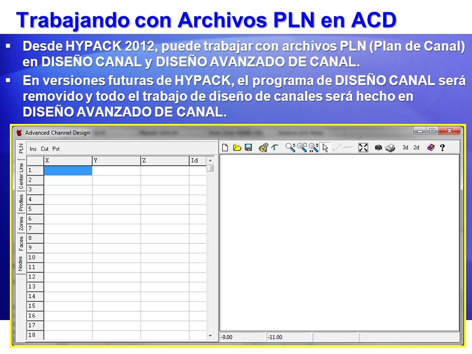 Trabajando con Archivos PLN en ACD