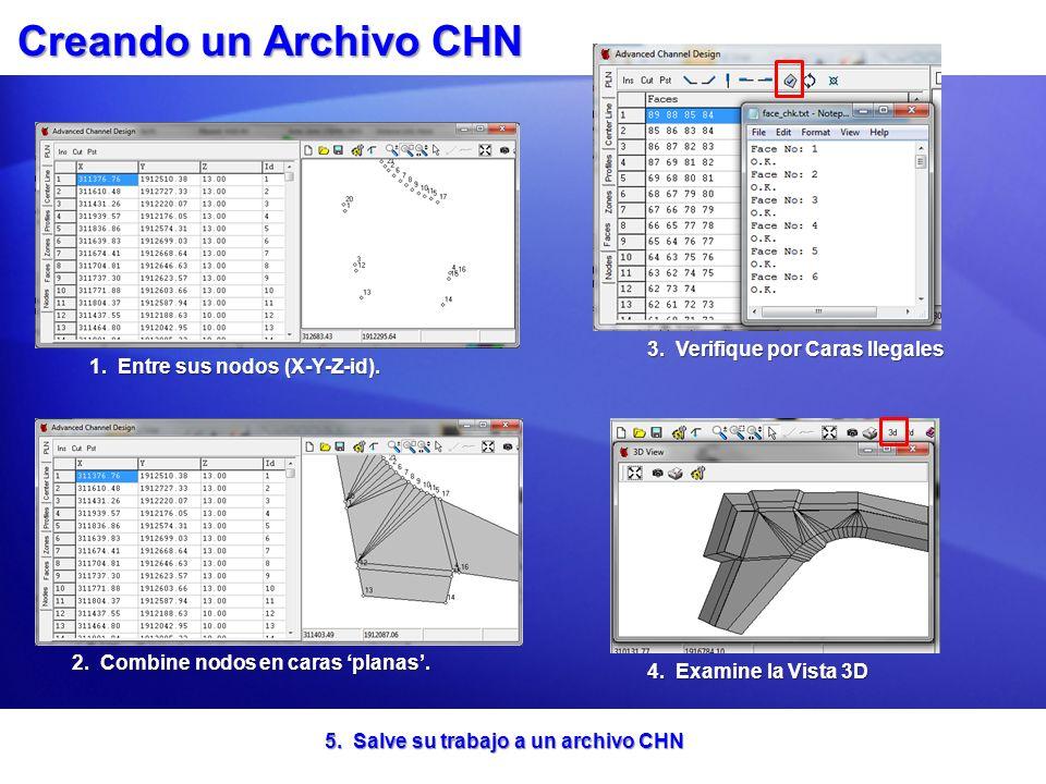 Creando un Archivo CHN 3. Verifique por Caras Ilegales