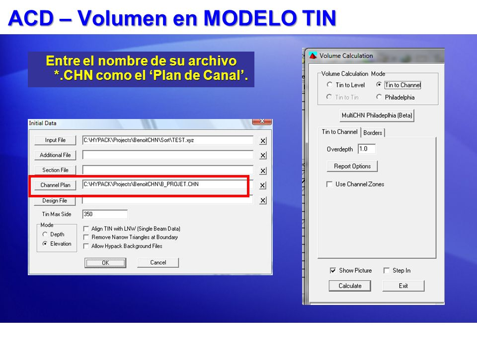 ACD – Volumen en MODELO TIN