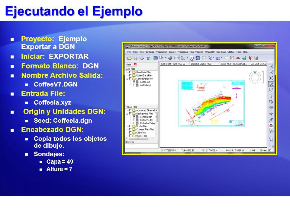 Ejecutando el Ejemplo Proyecto: Ejemplo Exportar a DGN