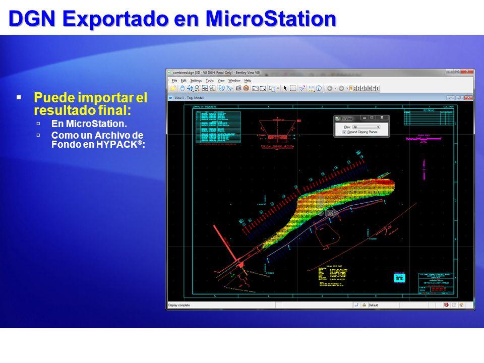 DGN Exportado en MicroStation