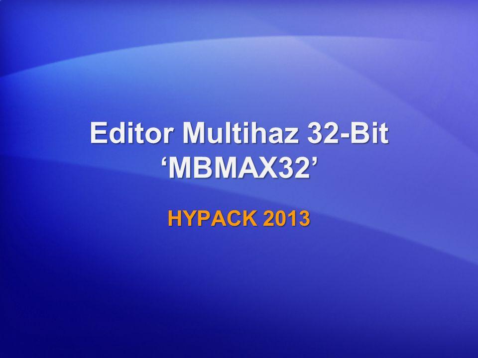 Editor Multihaz 32-Bit 'MBMAX32'