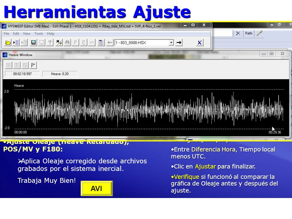 Herramientas Ajuste Ajuste Datos en MBMAX32 AVI